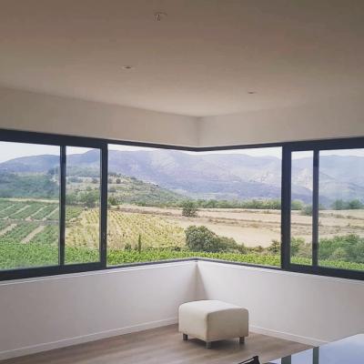 fenêtre d'angle panoramique alu